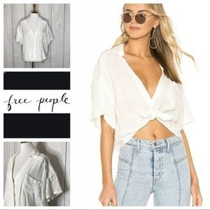 Free People Full of light gauze cropped top